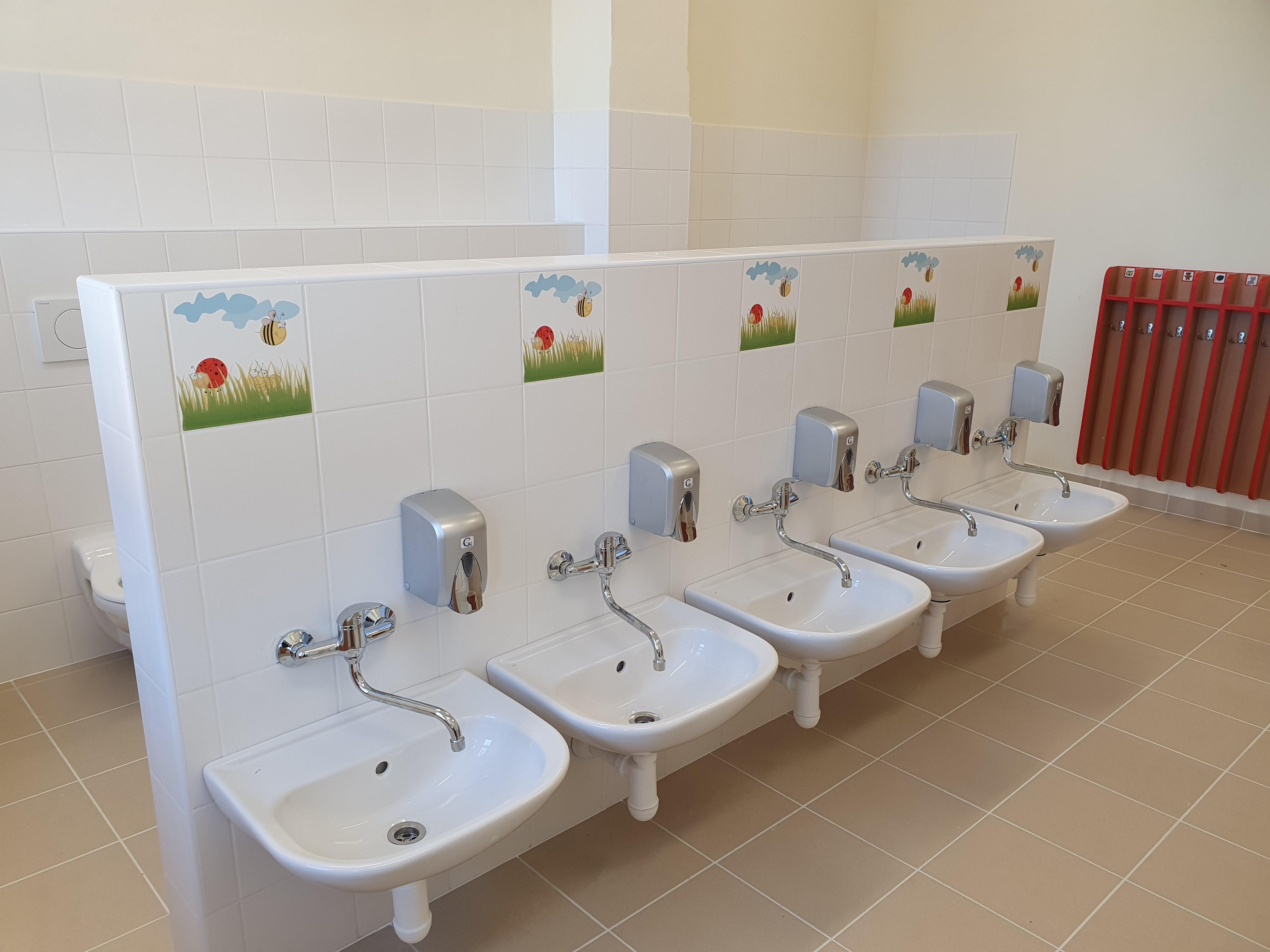 Umývárna a WC dětí